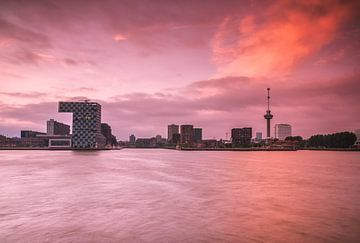 Skyline Rotterdam met Euromast sur Ilya Korzelius