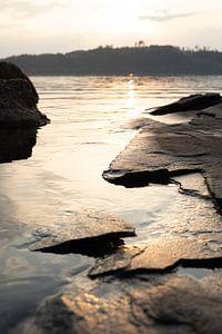 Coucher de soleil au lac