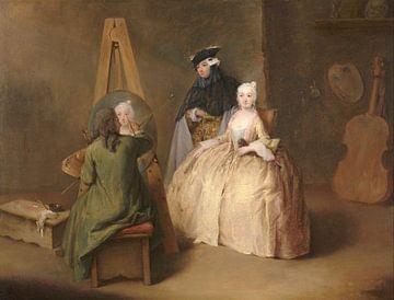 Le peintre dans son atelier, Pietro Longhi sur
