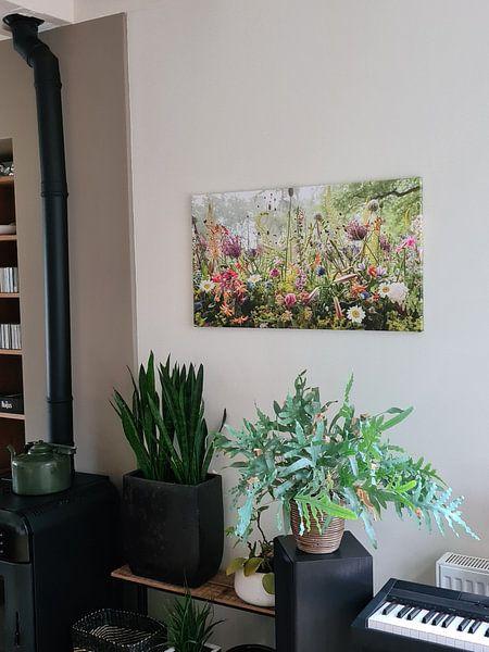 Klantfoto: Bloemwerk in het park van Paul Heijmink, op canvas
