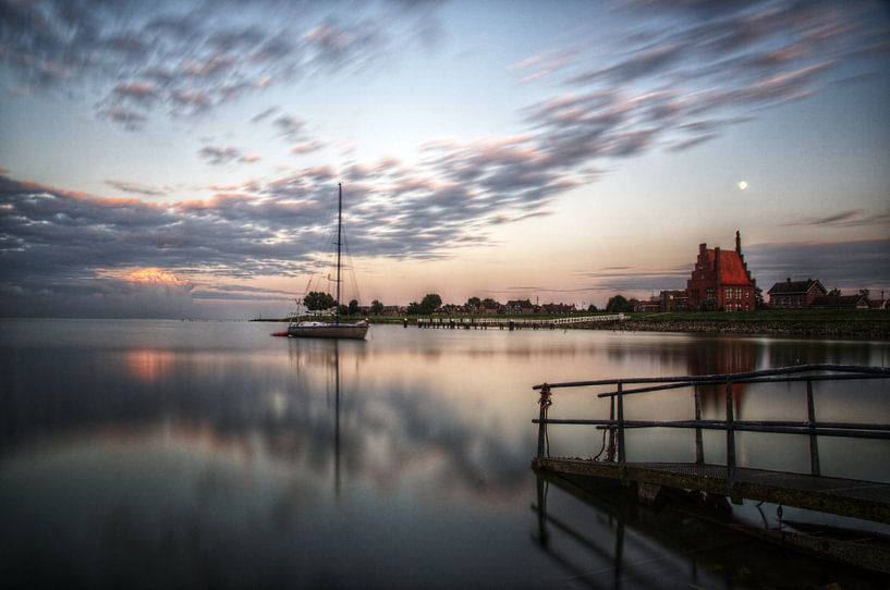 Evening view on Medemblik van Mike Bing