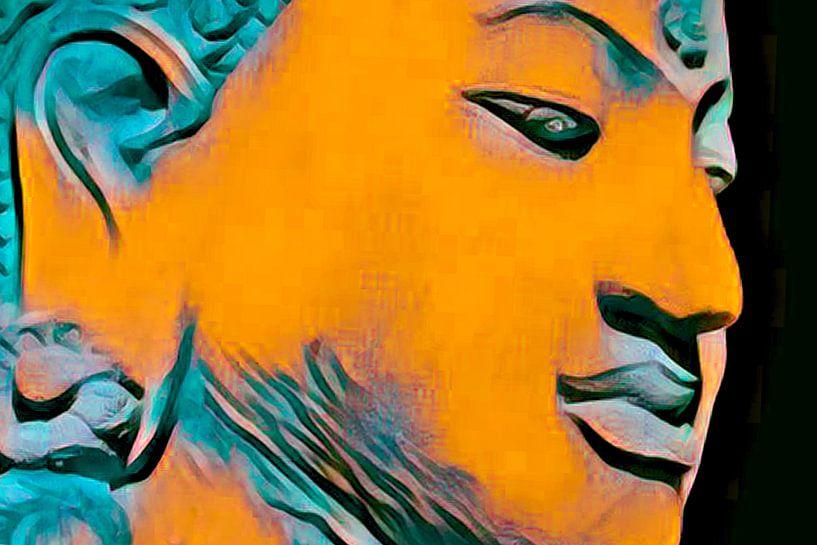 Buddha Obsession 20201 - Orange von Michael Ladenthin