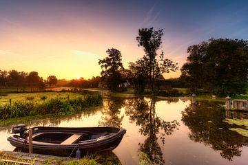 Boeren bootje in de polder