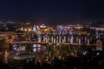 Panorama Praag  by Night van