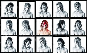 Bowie collage van Peter Mantel