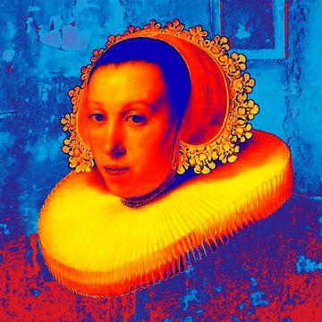 PORTRET VAN EEN JONGE VROUW  UIT 1638 van Atelier Kunst en Ko