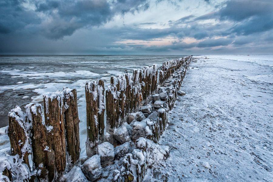 Winterlandschap Waddenzee
