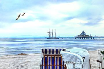 The pier of the seaside resort Heringsdorf van