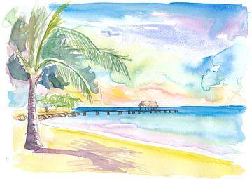 Einsame Vibes am Pigeon Point Beach Trinidad Tobago von Markus Bleichner
