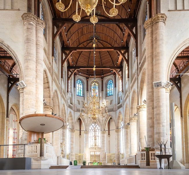 Interieur Laurenskerk Rotterdam van Rietje Bulthuis