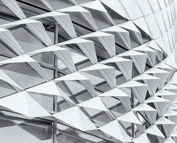Abstrakt in Schwarz-Weiß von Corrie Ruijer