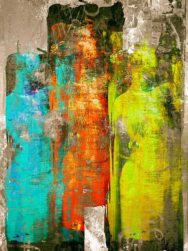 Three colorful women