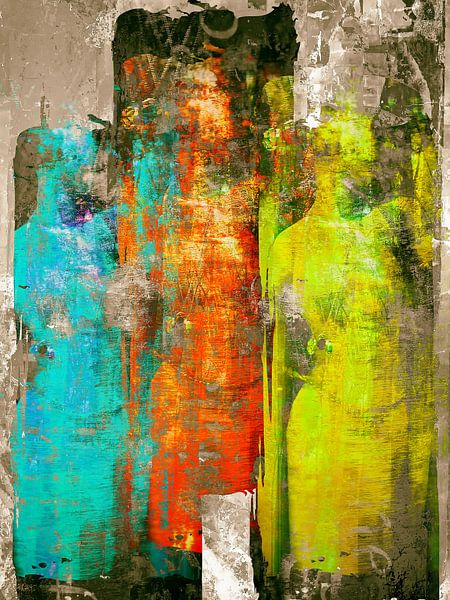 Three colorful women van Gabi Hampe