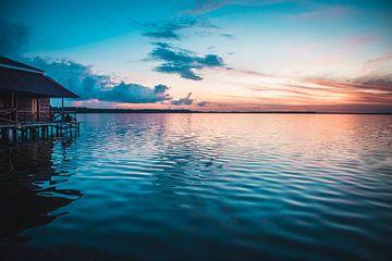 Lever de soleil sur un lac au Suriname sur Prints by Abigail Van Kooten