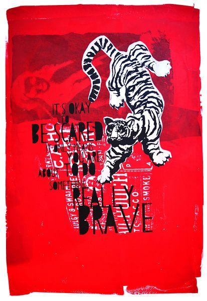 Brave white tiger van Inge Buddingh