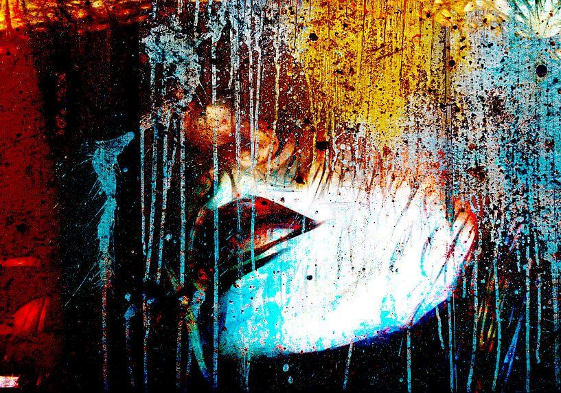 White face red lips von PictureWork - Digital artist