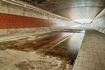 Verlaten fietstunnel in aanbouw van FHoo
