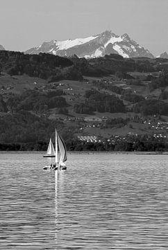 Zeilboot op de een meer sur Heino Minnema