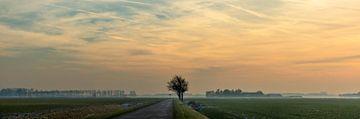 Zonsondergang in Groningen van Bo Scheeringa Photography