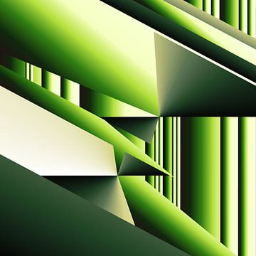 Grüner Bambus Modern Art von Heidemarie Andrea Sattler
