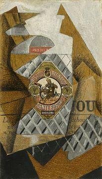 Juan Gris, De fles Anís del Mono - 1914 van Atelier Liesjes