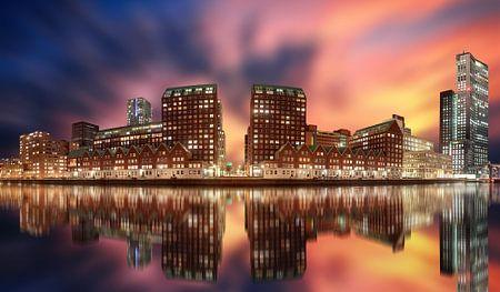 Rotterdam Panorama harbour sur Michiel Buijse