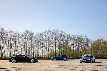 Mazda RX-8, Ford Focus RS & BMW E46 van Sim Van Gyseghem