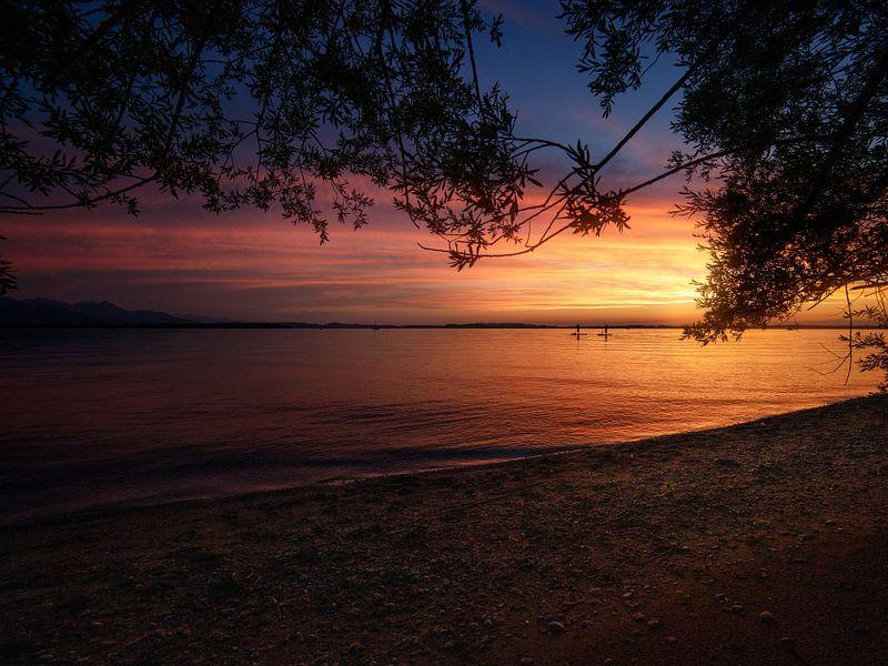 Sonnenuntergang am Chiemsee von Thomas Weber