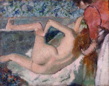 Edgar Degas. After the Bath van 1000 Schilderijen