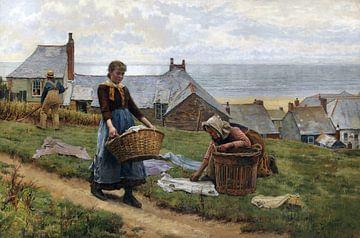 WILLIAM HENRY BARTLETT, Ein schlechter Wind zum Fischen, aber ein guter zum Trocknen, 1884