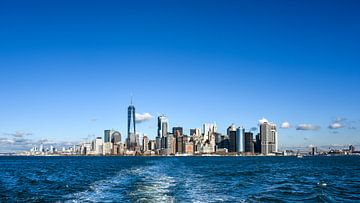 NY View to downtown Manhattan von Jeanette van Starkenburg
