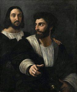 Selbstporträt mit einem Freund, Rafaël
