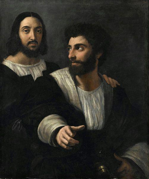 Selbstporträt mit einem Freund, Rafaël von Meesterlijcke Meesters