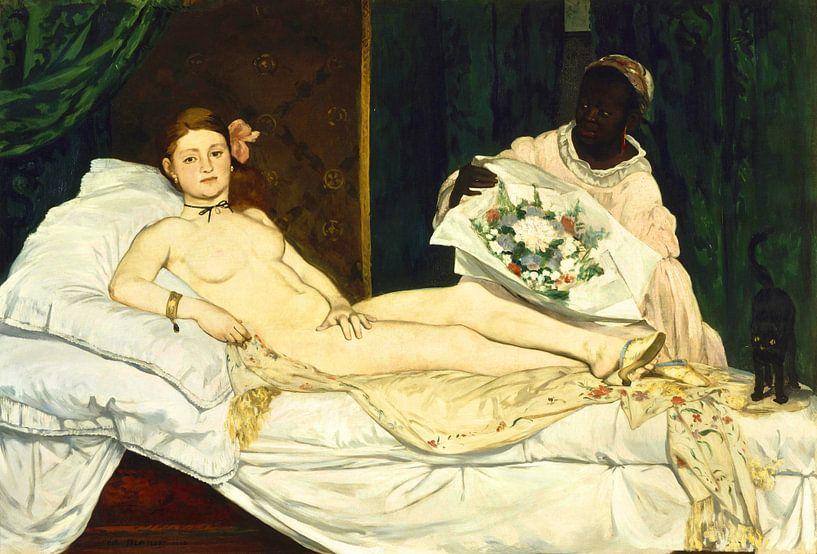 Edouard Manet. Olympia, 1863 van 1000 Schilderijen