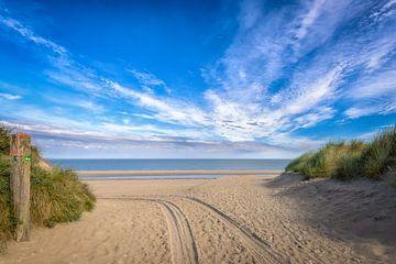 Vers la plage sur Johan Vanbockryck