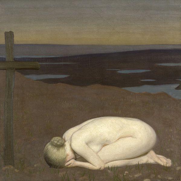 Youth Mourning, George Clausen von Meesterlijcke Meesters