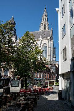 Cathédrale et terrasses à Anvers sur Mickéle Godderis