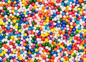Macrofoto van discodip spikkels van