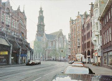 Schilderij: Amsterdam, Raadhuisstraat-Westerkerk sur Igor Shterenberg