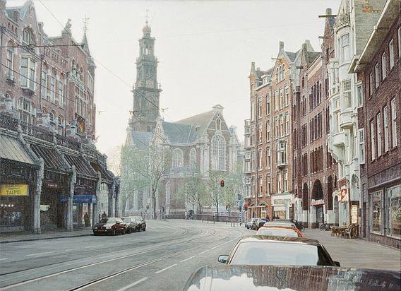 Schilderij: Amsterdam, Raadhuisstraat-Westerkerk