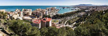 Panorama van Malaga van René Weijers