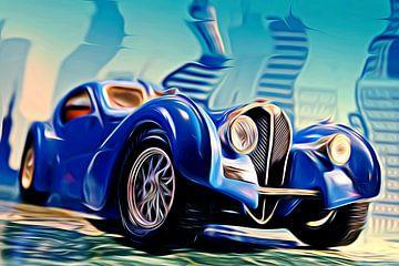 Bugatti Type 57 blue van Jean-Louis Glineur alias DeVerviers