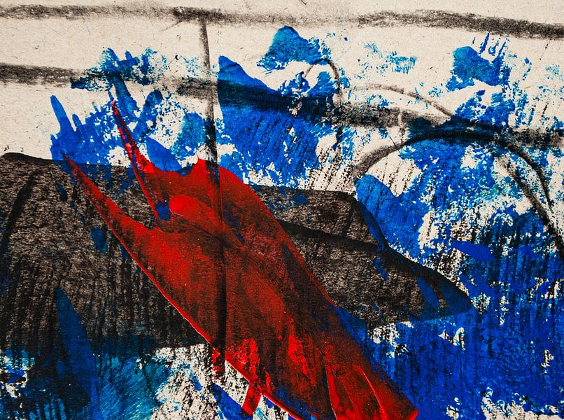 Rot blauer Walfisch von Klaus Heidecker