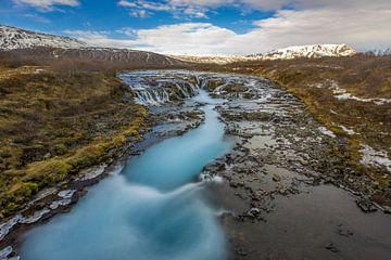 Brúarfoss, IJsland. van