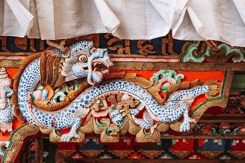 Tibetaanse draak in klooster