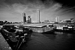 Skyline Rotterdam vanaf Katendrecht van