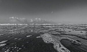 Strand Noordwijk Zwart Wit van Franklin