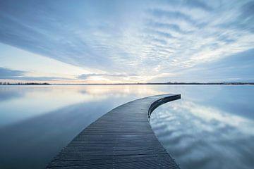 Steiger bij Zeewolde met spectaculaire lucht van