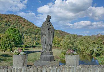 de Nepomukbrug of Ahrbrug in de Ahrvallei van Peter Eckert