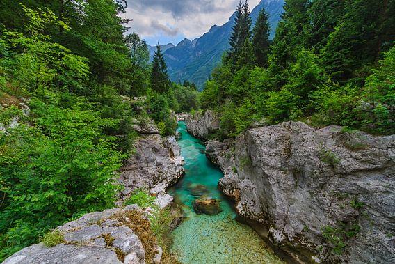 Soca Kloof in Slovenie